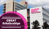 Sheffield Hallam University GREAT Scholarships for Indian, Indonesian and Malaysian Students