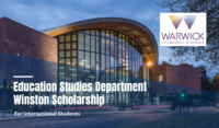 University Warwick Education Studies Department Winston Scholarship in the UK