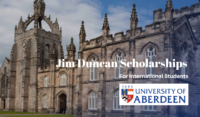 University of Aberdeen Jim Duncan Scholarships for International Students in the UK