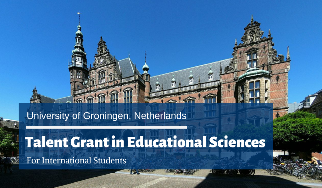University of Groningen International Talent Grant in Educational Sciences in the Netherlands