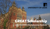 University of Leeds GREAT Scholarship for Indonesian Students in the UK