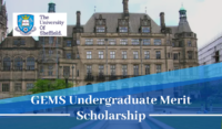 University of Sheffield GEMS Undergraduate Merit Scholarship in the UK