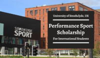 University of Strathclyde Performance Sport funding for International Students in the UK