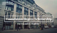 University of Westminster Foundation Degree funding for UK and EU Students