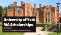 University of York MA funding for UK/EU and International Students