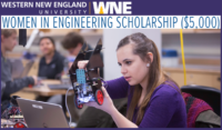 Women in Engineering International Scholarship at Western New England University, USA