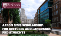 Birkbeck University of London Aaron Sims funding for UK and EU Students
