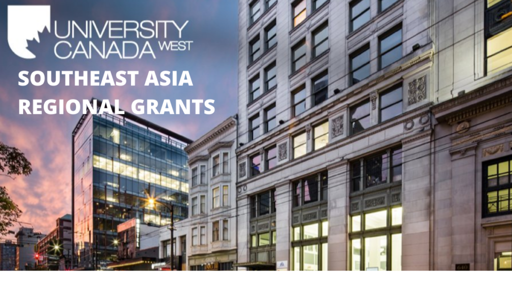 Southeast Asia Regional Grants at University Canada West 2020