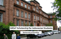 University of Dundee GREAT funding for Indonesian Students in the UK