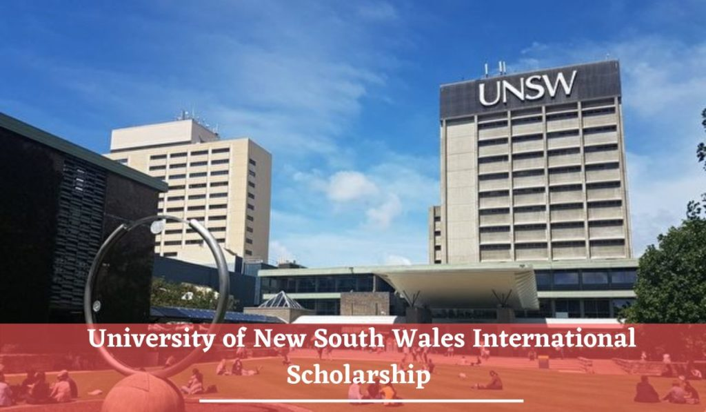 International Scholarship at University of New South Wales in Australia, 2020