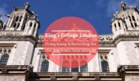 King's College London Hong Kong Scholarship