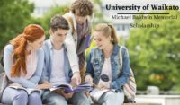 Michael Baldwin Memorial Scholarship at University of Waikato, New Zealand