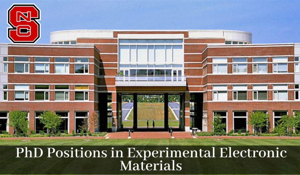 PhD Positions in Experimental Electronic Materials