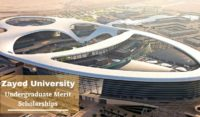 Undergraduate Merit Scholarship at Zayed University, UAE
