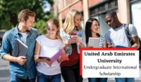 United Arab Emirates University Undergraduate funding for International Students