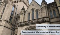 University of Manchester Department of Mathematics Scholarship