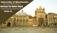 University of Manchester School of Computer Science Overseas Fee Waiver Award