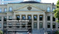 University of Ottawa Faculty of Social Sciences Dean's Excellence International Award