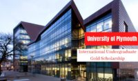 University of Plymouth International Undergraduate Gold Scholarship