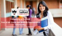 University of Salford Year of the Nurse and Midwife International Scholarship in the UK
