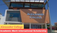 Academic Merit International Scholarship at Alexander College, Cyprus