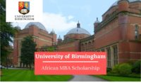 African MBA Scholarship at University of Birmingham, UK