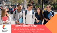 Carey Baptist College Academic Women's funding for Home and International Students