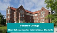 Carleton College Starr funding for International Students