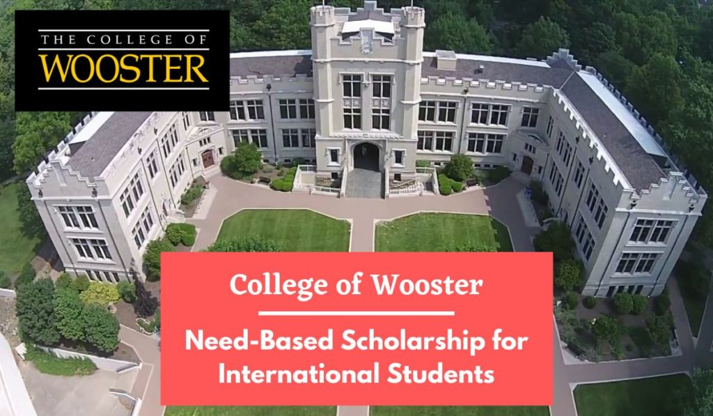 College of Wooster Need-Based funding for International Students in the USA