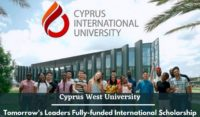 Cyprus West University Tomorrow's Leaders Fully-funded International Scholarship
