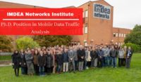 IMDEA Networks Institute Ph.D. Position in Mobile Data Traffic Analysis