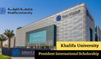 Khalifa University President International Scholarship