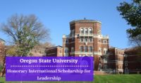 Oregon State University Honorary International funding for Leadership