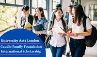 University Arts London Gaudio Family Foundation International Scholarship
