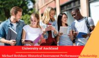 University of Auckland Michael Redshaw Historical Instrument Performance Scholarship