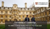 University of Cambridge St. John's College Nathoo Bursary for Home and International Students
