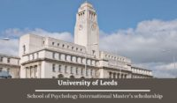 University of Leeds School of Psychology International Master's scholarship