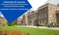 University of Leicester School of Business India Academic Excellence Scholarship