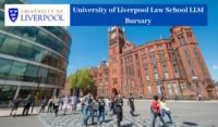 University of Liverpool Law School LLM Bursary in the UK