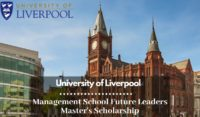 University of Liverpool Management School Future Leaders Master's Scholarship
