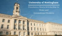 University of Nottingham Foundation Sports funding for Home and International Students