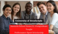 University of Strathclyde Business School Home EU Postgraduate Taught Performance Sport Scholarship