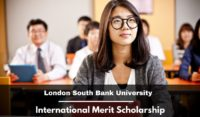 London South Bank University International Merit Scholarship in the UK