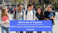 University of Toyama MEXT Honors funding for International Students in Japan