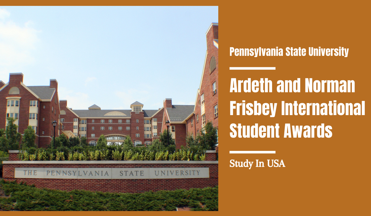 Ardeth and Norman Frisbey International Student Awards in USA