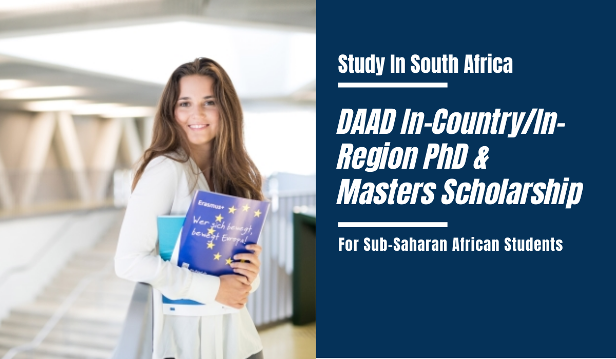 DAAD In-Country/In-Region PhD and Master Awards for Sub-Saharan African Students