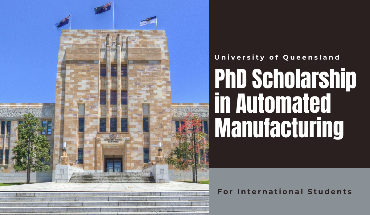 PhD International Scholarship in Automated Manufacturing of FRP Structure, Australia