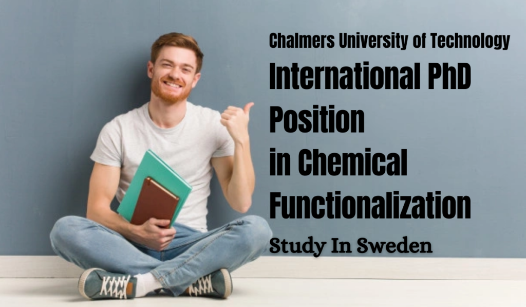 International PhD Position in Chemical functionalization